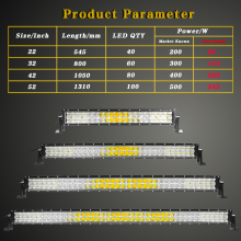VISORAK 5D 22 32 42 52 inch LED Bar 200W 300W 400W 500W Curved LED Work Light Bar For Tractor OffRoad 4WD 4×4 Car Truck SUV ATV