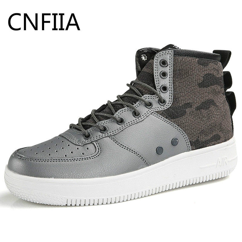 CNFIIA Men Boots Working Safety 2018 Men Leather Boots Tactical Fashion Comfortable Motocycle Boots Male Black White Tracking