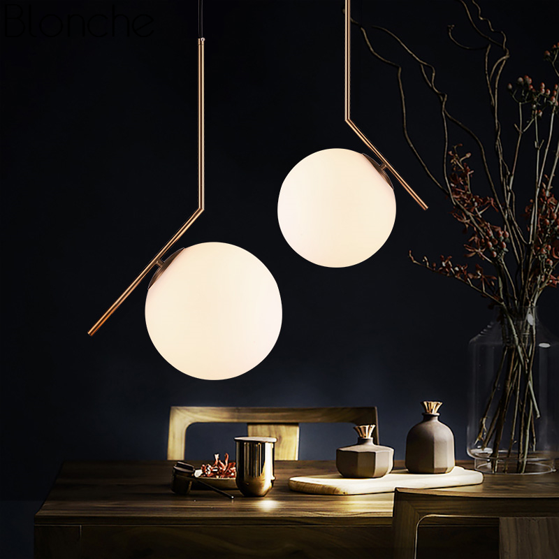 Modern Nordic Glass Ball Pendant Lights for Living Room Gold Led Hanging Lamp Bedroom Kitchen Home Loft Decor Light Fixture E27Modern Nordic Glass Ball Pendant Lights for Living Room Gold Led Hanging Lamp Bedroom Kitchen Home Loft Decor Light Fixture E27