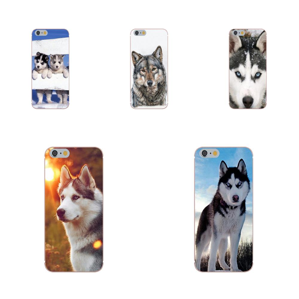 Kmuysl Soft TPU Fashion For Galaxy Alpha Core Prime Note 4 5 8 S3 S4 S5 S6 S7 S8 S9 mini edge Plus Gop <font><b>Siberian</b></font> <font><b>Husky</b></font> image