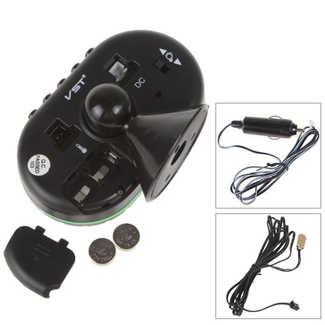 Multi-función de 12 V/24 V Auto LED Display Reloj Termómetro + Voltage Meter + Noctilucous Congelación + alerta