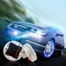Solar Power Car Wheel Rim Light Waterproof Colorful LED Flash Strobe Tire Tyre Valve Cap Lamp Decor Auto Motorcycle Accessories
