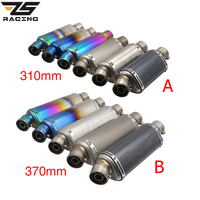 ZS Racing 38 51MM Exhaust Pipe Silencer Akrapovic Muffler Slip on Escape Motorcycle Exhaust System Motorbike Racing Performance