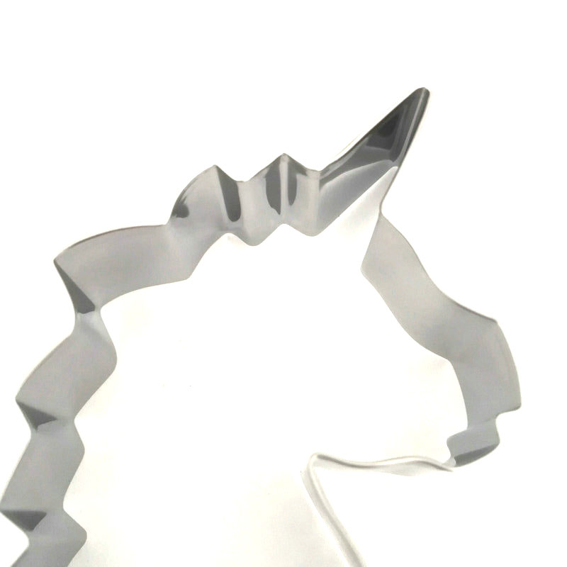 Stainless Steel Unicorn Head Cookie Cutter Mold Cake Biscuit Sugarcraft Tool