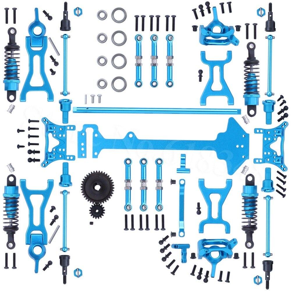1 ensemble Wltoys A969 Kit complet de pièces de mise à niveau pour RC 1:18 échelle 4WD court Course camion accessoires en métal
