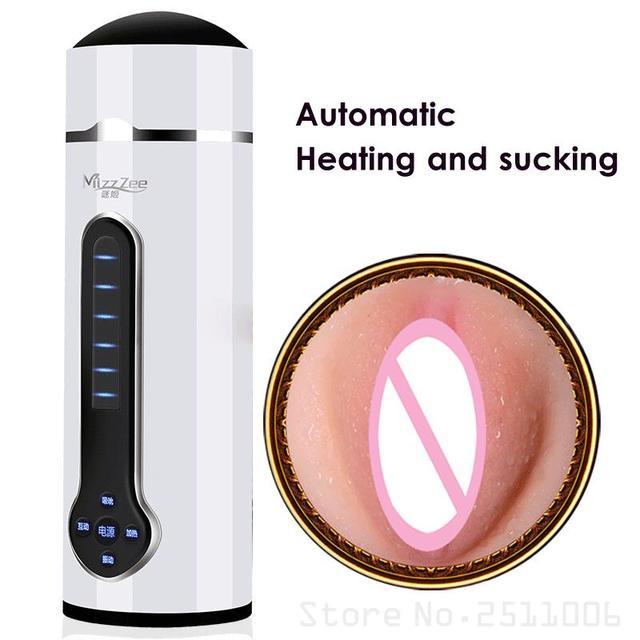 2017 nueva voz caliente chupando sexo masculino máquina masturbador masculino sexo taza Artificial Vagina Real bolsillo coño para hombres masturbadores bc8b12