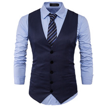 2019 New Arrival Dress Vests For Men Slim Fit Mens Suit Vest Male Waistcoat Gilet Homme Casual Sleeveless Formal Business Jacket showersmile mens double breasted vest suit black dress waistcoat for men slim fit sleeveless jacket male spring autumn gilet