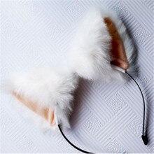 8 цветов, Меховая повязка на голову, повязка на голову с кошачьими ушками, длинные аксессуары для волос с героями мультфильмов для девочек, женские вечерние рождественские повязки на голову