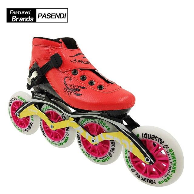 New Carbon Fiber Skates Women Men Inline Speed Skating Shoes Adults Kids  Roller Skate Boots 2018 85e7c4480