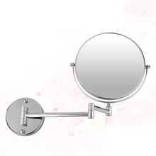 Best Sale Chrome round 8″ wall mirror vanity mirror cosmetic mirror double-sided 5X magnifying mirror