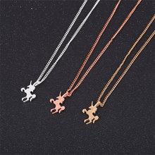 Fashion popular unicorn jewelry gold Pegasus pendant gift female necklace simple temperament clavicle chain jewe