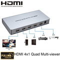 4x1 HDMI Quad Multi-Viewer Converter With Seamless Switcher 4 HD digital video signal to 1 screen HDMI1.3a,HDCP1.2,1080p