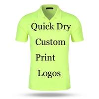 Пользовательские Poloshirt печать логотипа конструкции индивидуальные сделать Вышивка принт офис компании AD 100% поли быстросохнущая поло Рубаш...