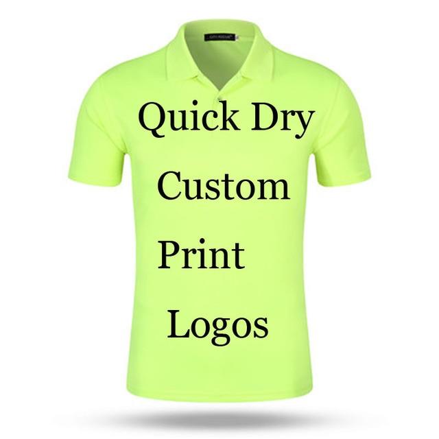 4c0c09166 Custom Quick Dry Poloshirt Printing Logo Designs Customized Make Embroidery  Print company Office Ad 100% Poly Polos Shirts