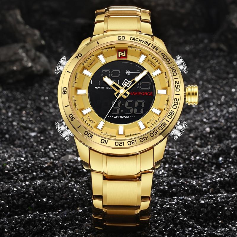 NAVIFORCE Military Sports Watches Men Luxury Brand Digital Quartz Watch Men's Waterproof Wristwatches Clock Relogio Masculino
