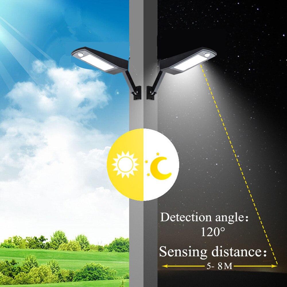 LED Solar Light Outdoor Waterproof 48 LED Garden Solar Light Motion Sensor PIR 4Modes With Remote Control 900LM Solar Lamps