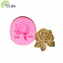 3D Food Grade Silicone Mould New Design Pretty Rose Flower Mold Cake Decoration Fondant