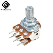 B10K Dual-Stereo-Potentiometer Widerstand Poti Potentiometer Mit 15mm Welle Split 6 Pins für WH148