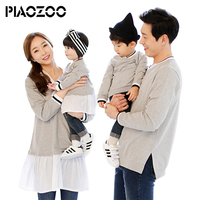 2018 autumn children boys v neck hoodies sweatshirts family look matching mother father baby daughter clothes mom son outfit P20