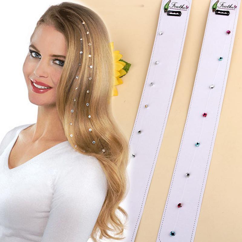 HobbyLane Fashion Elegant Clip Rhinestone Crystal Tassel Long Chain Beads Dangle Hairpin Hair Accessories For Wedding Party
