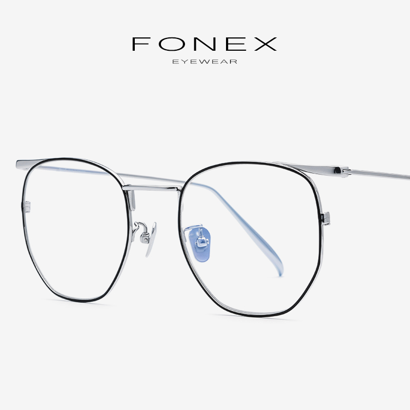 Pure B Titanium Eyeglasses Frame Women Ultralight Retro Polygon Prescription Spectacles Myopia Optical Glasses Men Eyewear