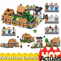 NEW 4IN1 dream village Compatible With Minecrafted My World Series 21128 Building Blocks Brick Toys for Children christmas Gift