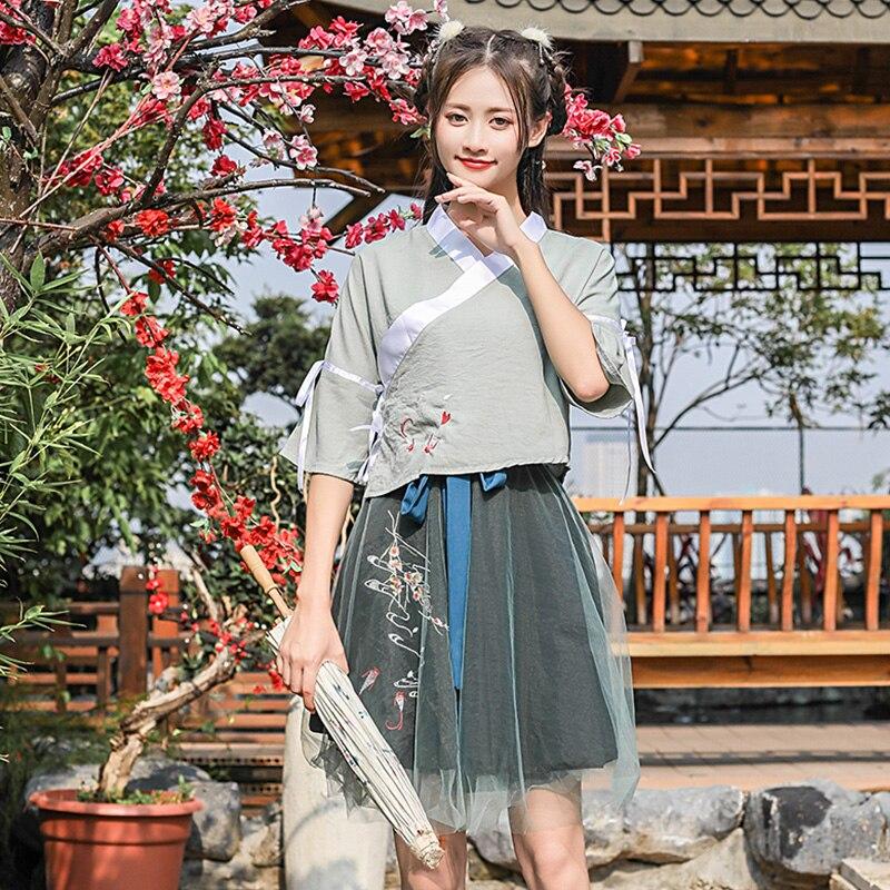 Hanfu ancien Costume chinois traditionnel Qing dynastie danse Costumes femmes princesse robe scène tenue femme vêtements DN3287