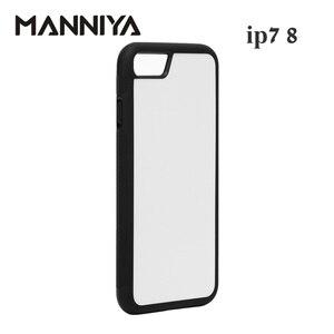 Image 3 - Manniya iphone 7 8 se 2020 ブランク昇華 tpu + pc ラバー電話ケースとアルミインサートとテープ 10 ピース/ロット