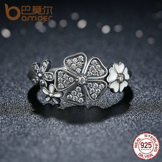 Sterling Silver Shimmering Bouquet Ring