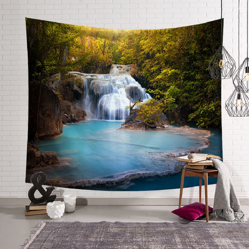 3D Waterfall Tapestry Wall Hanging Home Decor tapestry Tenture Murale Blanket mandala Tapestry toalla mandalas tapiz pared
