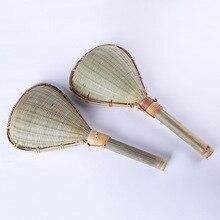 Креативная бамбуковая тканая рисовая ложка ручной работы, кухонные инструменты, дуршлаг с длинной ручкой, сливная ложка для еды, бытовые кухонные принадлежности