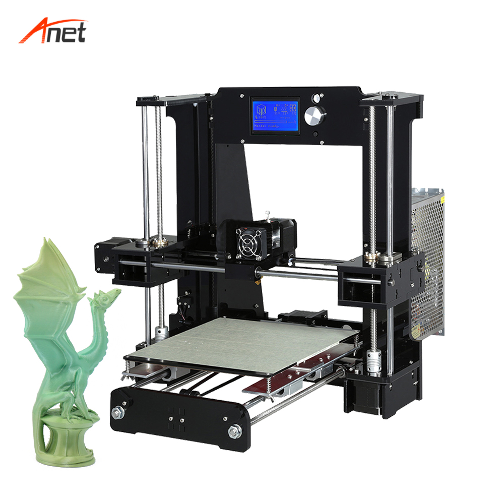 Anet A6 Easy Assemble Impresora 3D Big Size Reprap i3 DIY Printers With Hotbed Filament SD