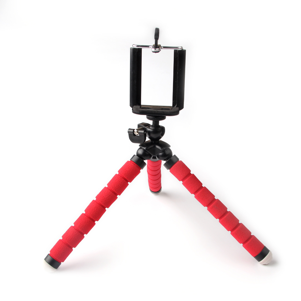 Universal Phone holder flexible tripod, camera stand red octopus for iphone mobile picture photo taking sport accessories