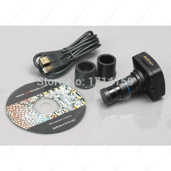Vétérinaires et médecins-AmScope fournit un Microscope inversé à contraste de Phase 40X-900X avec caméra 9MP