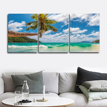 Laeacco Nordic Tropical Posters and Prints Abstract Palm Tree Wall Art Paint On Canvas Painting Living Room Home Decor