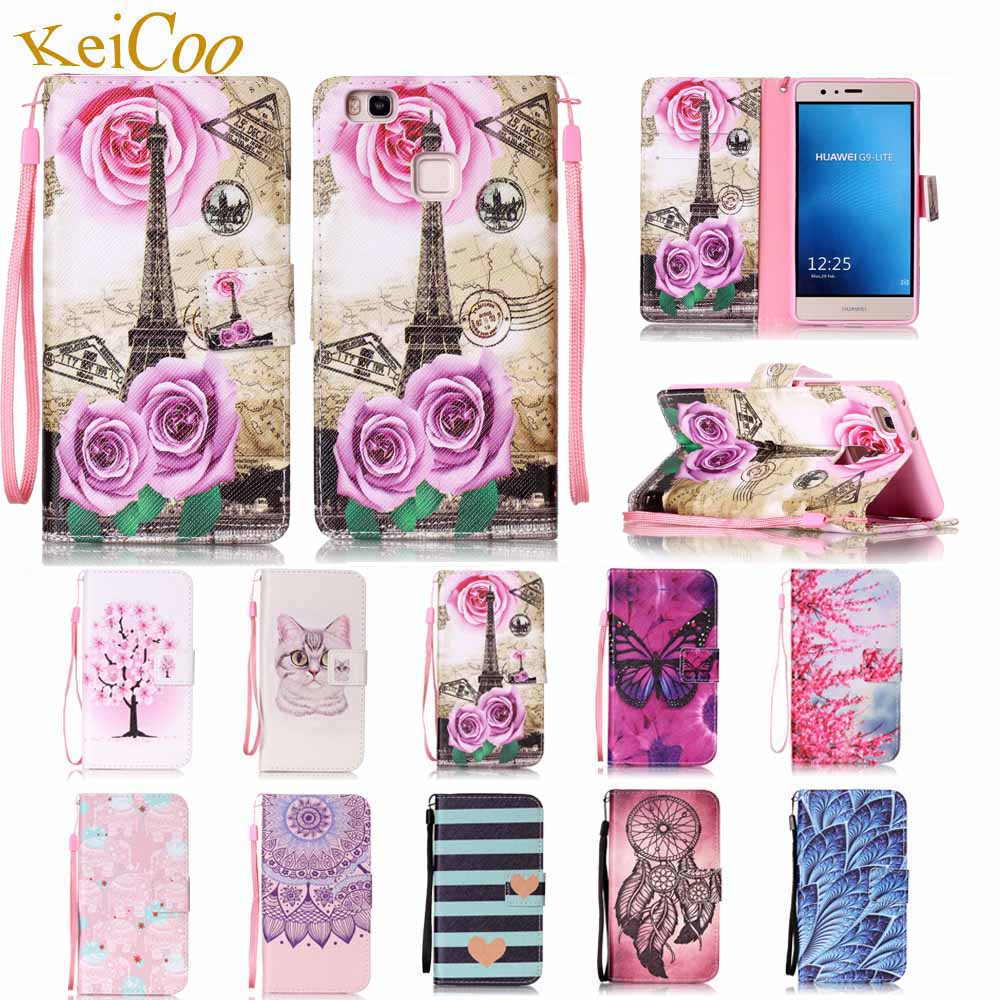 Book Flip Cases For HUAWEI P9Lite VNS-L23 VNS-L31 P9 Lite Dual SIM PU Leather Cases For HUAWEI P9 Lite VNS-L52 Card Holder Cover