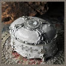 Metal Jewelry Casket Vintage Luxury Trinket Box Storage Organizer Case Zinc Alloy Jewelry Box Unique Women Gifts
