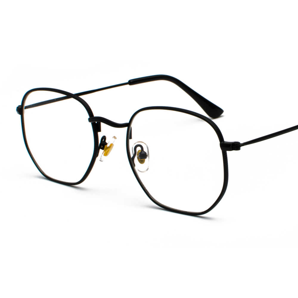 6ae38d43ba ... Peekaboo gold metal frame eyeglasses square frame male 2019 clear lens  eye glasses frames for women ...