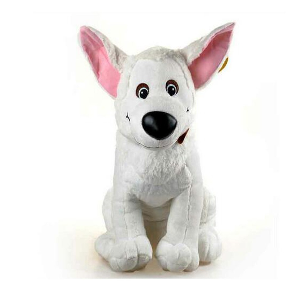 Movie Bolt Cute Dog Soft Stuffed Plush Toy Brinquedo Figure Doll for Children Birthday Gift Christmas Gift 60cm 1pcs 22cm fluffy plush toys white eyebrows cute dog doll sucker pendant super soft dogs plush toy boy girl children gift