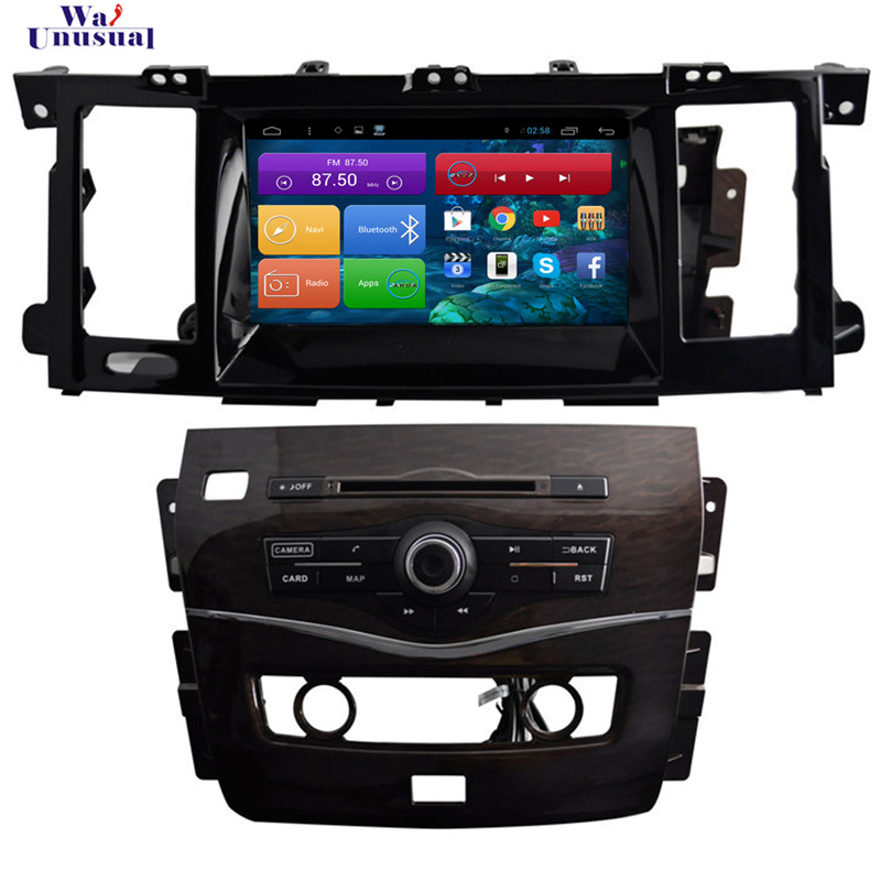 Wanusual 8 дюймов 4 ядра Android 6.0 GPS навигации для Nissan Patrol 2015 2016 2017 с Bluetooth, Wi Fi Зеркало Ссылка 1024*600