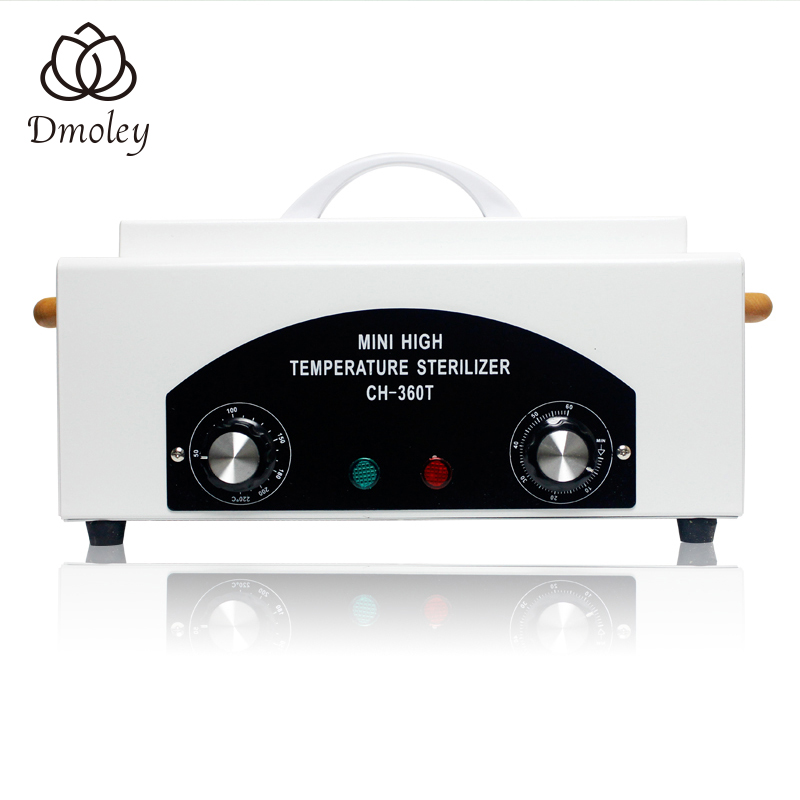 High Temperature UV Sterilizer Box Nail Art Tool Sterilizer Box with Hot Air Disinfection Cabinet Nail