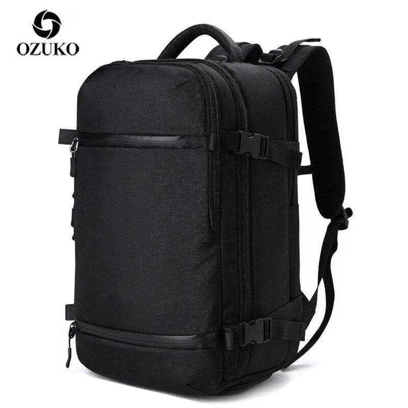 Bagaj ve Çantalar'ten Sırt Çantaları'de OZUKO Çok Fonksiyonlu Erkekler Sırt Çantası seyahat paket çantası Erkek Bagaj Sırt Çantası USB Büyük Kapasiteli Su Geçirmez laptop sırt çantası Kadın YENI'da  Grup 1