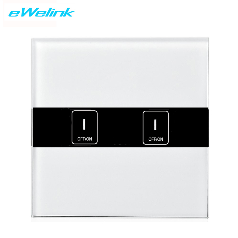 Eruiklink EU Wall Light WiFi Switch Smart Home Intelligent 2 Gang Panel WiFi App Touch Remote Wireless Switch Works With Alexa in Smart Remote Control from Consumer Electronics