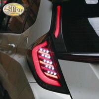 Задний противотуманный фонарь + стоп сигнал + задний фонарь + указатель поворота Автомобильный светодиодный задний фонарь для Honda Fit Jazz 2014 2018