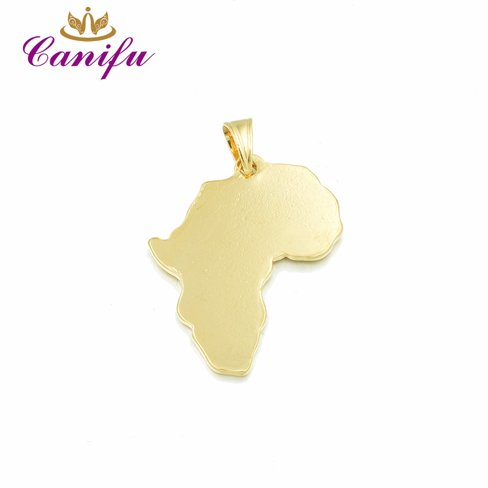 Shape Of Africa Map.Canifu New Arrival Hot Sale Gold Color Pendant Beautiful Africa Map