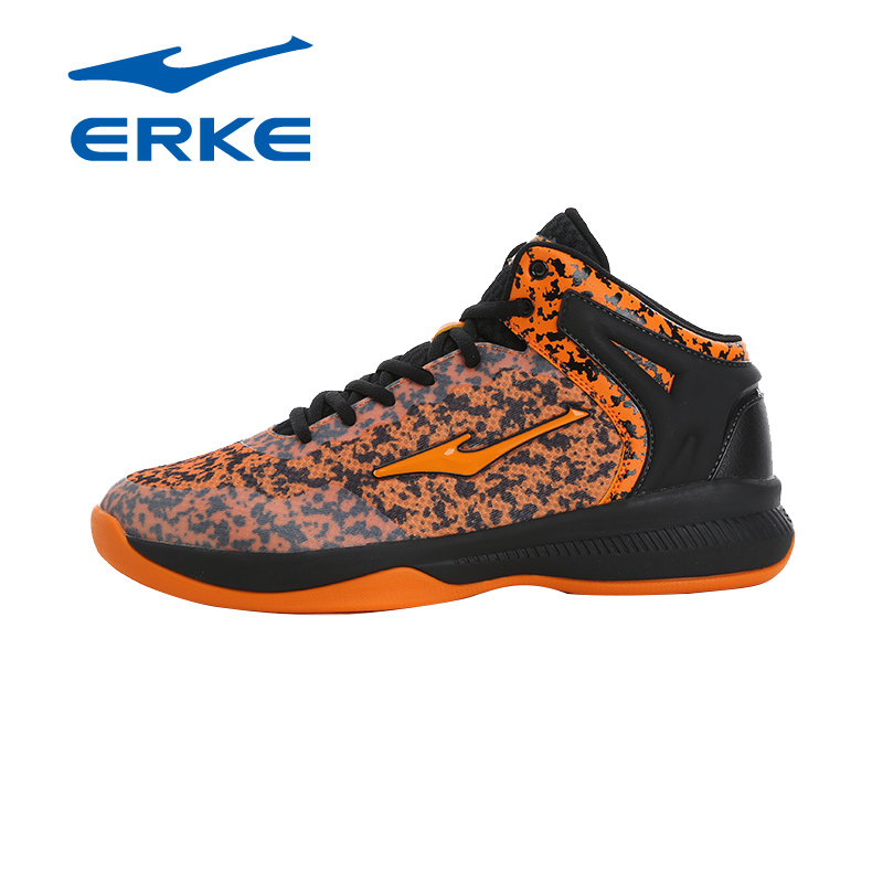 Famous Brand ERKE Mens High Top Basketball Shoes For Men Sports Wearable Basketball Shoes Sneakers Man EUR 39--44 peak sport speed eagle v men basketball shoes cushion 3 revolve tech sneakers breathable damping wear athletic boots eur 40 50