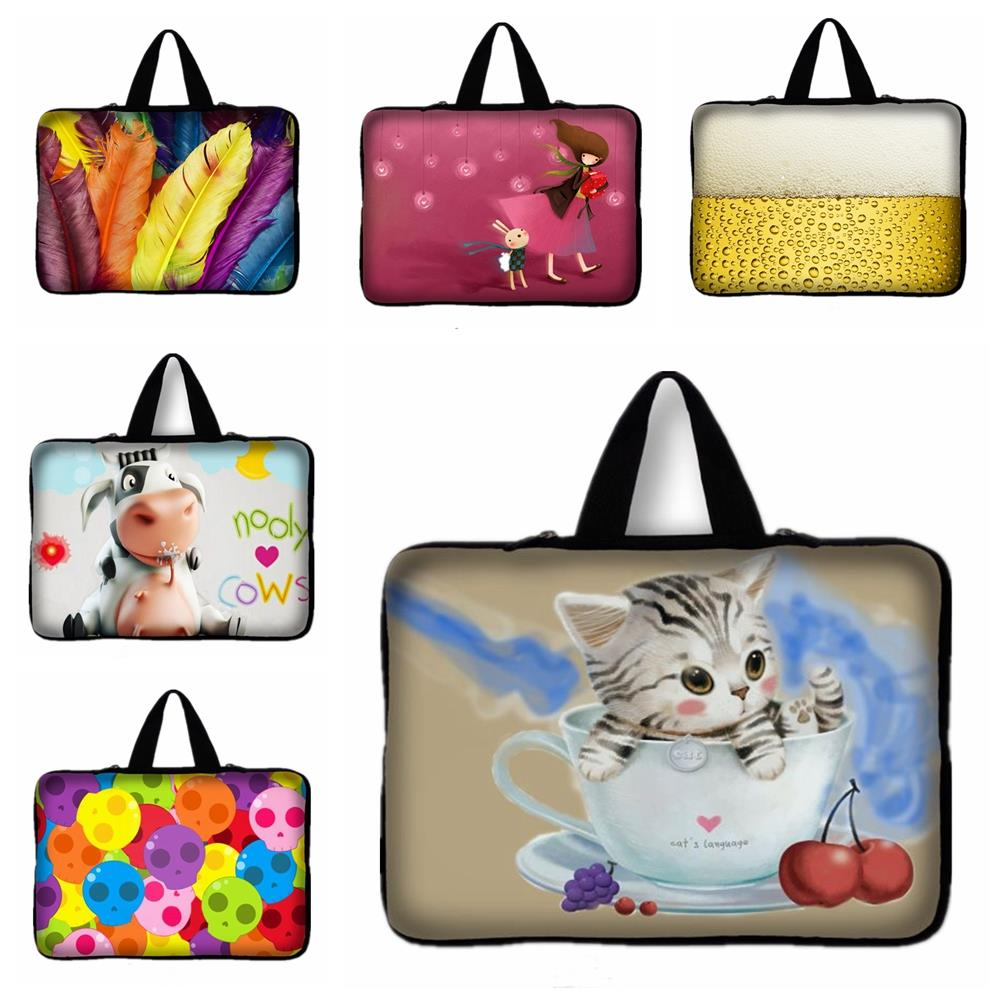 Cat ,Beer Print 13 13.3 inch Notebook Bag Smart Cover For ipad MacBook Asus Dell Laptop Sleeve Case 13 '' 13.3'' Laptop Bag