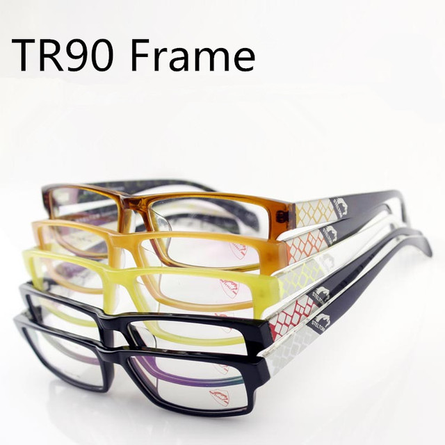 c793abf0c08 Slim Square TR90 Glasses Frame Men Women Optical Lenses Spectacles  Eyeglasses Female Grade Points Vision Eyewear