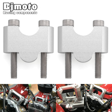 BJMOTO Motorcycle Riser 30mm 1.18 inch Handlebar Bar Mount Clamp Risers Height Adapters For BMW G310GS G310R G310 GS R 2017 2018 for bmw g310gs g310r g 310 2017 2018cnc motorcycle modified handlebar handle bar height up adapters