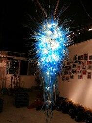 Luksusowe niebieski żyrandol ze szkła styl nowoczesny żyrandol do lobby hotelowego